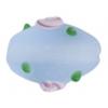 """Glass Bead Oval 10x15mm 8""""str Light Blue Matt"""